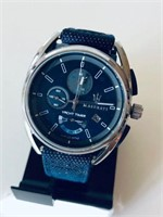 MASERATI MENS BLUE DIAL YACHT TIMER WATCH-USED
