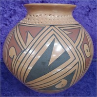 D - VINTAGE NATIVE AMERICAN BOWL SIGNED