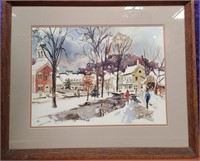 VINTAGE WATERCOLOR PAINTING BY CECIL JOHNSON