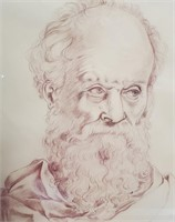 """ANTIQUE DRAWING BY JORGE CARDARELLI 18.5"""" X 22.5"""""""