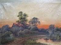 """ANTIQUE OIL PAINTING SIGNED 18"""" X 23"""""""