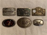 6 belt buckles