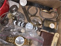 Assorted watches and parts