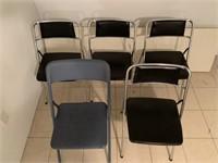 5 folding chairs