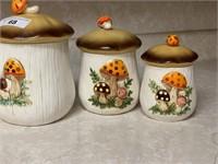 Vintage 1978 Sears Roebuck Merry Mushroom Canister