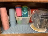 Glassware, tumblers, measuring bowls