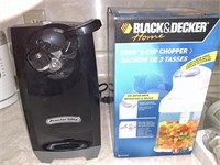 Electric can opener, 3-cup chopper