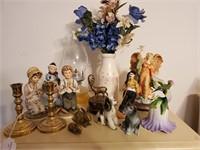 Oil Lamp, Porcelain Figurines, Decorations