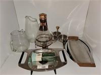 Mid Century Modern Serving Trays & Percolator