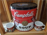 Campbell Soup 1900 Cannister, Soup Mugs