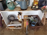 Watering Buckets, Air Pump, Contents of Shelf