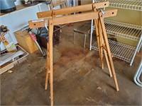 2 - Wood Saw  Horses