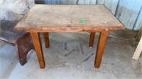 """HAND MADE LITTLE TABLE , 31 """" by 24 """""""