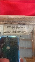 BRUNING PRODUCE VINTAGE THERMOMETER