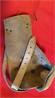VINTAGE HAND HELD CORN HUSKER LEATHER AND VERY