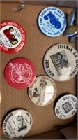 BOX OF BUTTONS OF TRACTOR SHOWS AND FEW