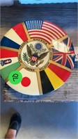 CIRCLE PIN OF FLAGS OF COUNTRIES