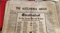 GROUP OF OLD NEWSPAPERS