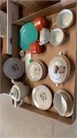 CHILDRENS VINTAGE TEA SET PLUS OTHER DISHES