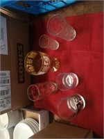 BOX OF VARIOUS DRINKING GLASSES