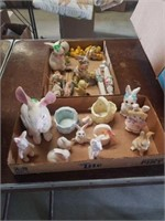 CERAMIC AND PORCELAIN BUNNIES AND CHICKS