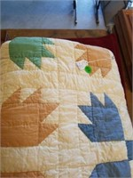 """72"""" x 88"""", BEAR PAW QUILT, HAND QUILTED"""