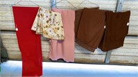 7 TABLE CLOTHES  RED ONE IS OVAL 48 x 98 ,FLORAL