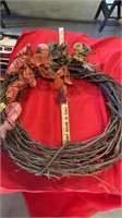 2 HOLIDAY WREATHS