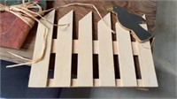 MOSTLY WOODEN DECORATIONS FOR FALL, BALES AND