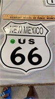 NEW MEXICO US 66 SIGN