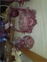 RUBY OVERLAY GLASSWARE ITEMS