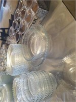 SET OF CANDLEWICK CRYSTAL, 12 DINNER PLATES,
