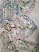 MIKASA TULIP PATTERN GLASSWARE,  VARIOUS ITEMS