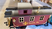 CHRISTMAS TRAIN SET WITH ENGINE AND 4 CARS