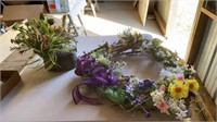 """SPRING WREATH20"""" AND RUSTIC WATERING CAN AND"""