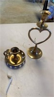 BRASS CANDLESTICK HOLDERS AND OTHER VALENTINE