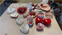 TABLE FULLOF HEARTS THATS ALL GLASS AND DELICATE