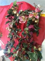 CHRISTMAS SWAG, LIGHTED WREATH WITH PRESENTS,