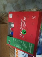 2 BOXES OF 50 OUTDOOR C9 LIGHTS, 1 BOX OUTDOOR C7
