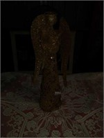 "23"" BIG GOLD ANGEL,  50"" CROCHET TREE SKIRT"