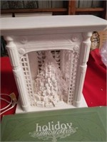 """LIGHTED HOLIDAY SILHOUETTES SCENE, 12"""" HIGH"""