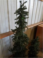 """2 CHRISTMAS TREES,  APPROXIMATELY 60"""" AND 36"""""""