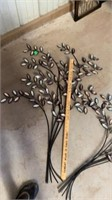PRETTY METAL TREES WITH SHINY LEAVES AND