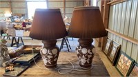 2 BIG PAINTED LAMPS