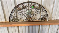 """METAL DECORATIVE PIECE,30 IN LONG 15 """" HIGH"""