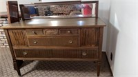 """BUFFET WITH MIRROR 60"""" LONG 23 """" WIDE AND 39 """""""