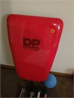 WEIGHTS, BALL, CHAIR BACK