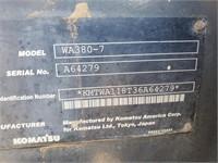 2013 Komatsu WA380-7 Wheel Loader