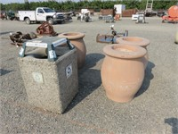 Assorted Cement Receptacles