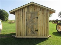7ft x 8ft wooden storage shed